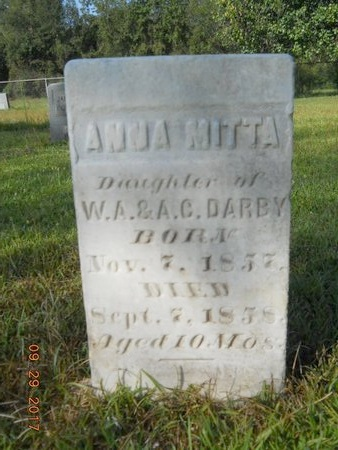 DARBY, ANNA MITTA - Union County, Louisiana | ANNA MITTA DARBY - Louisiana Gravestone Photos