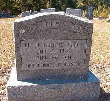 ROGERS DUMAS, WILLIE - Union County, Louisiana | WILLIE ROGERS DUMAS - Louisiana Gravestone Photos