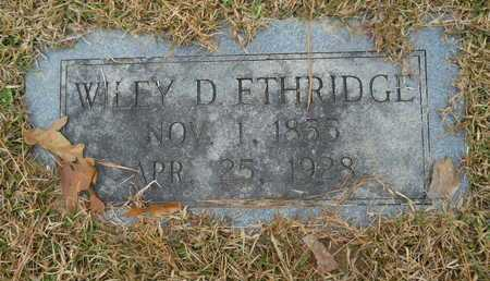 ETHRIDGE, WILEY D - Union County, Louisiana | WILEY D ETHRIDGE - Louisiana Gravestone Photos