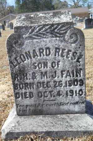 FAIN, LEONARD REESE - Union County, Louisiana | LEONARD REESE FAIN - Louisiana Gravestone Photos