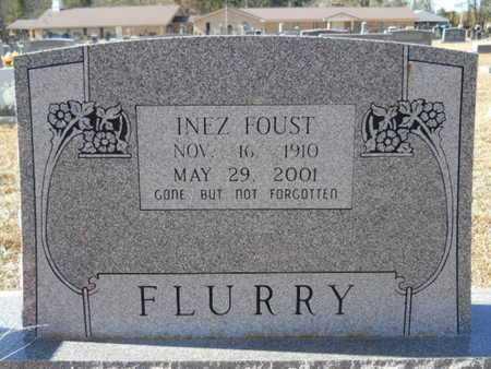 FOUST FLURRY, INEZ - Union County, Louisiana   INEZ FOUST FLURRY - Louisiana Gravestone Photos
