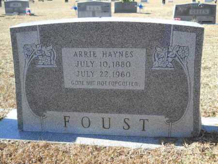 HAYNES FOUST, ARRIE - Union County, Louisiana | ARRIE HAYNES FOUST - Louisiana Gravestone Photos