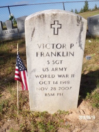 FRANKLIN, VICTOR P (VETERAN WWII) - Union County, Louisiana | VICTOR P (VETERAN WWII) FRANKLIN - Louisiana Gravestone Photos