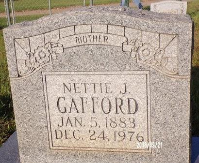 GAFFORD, NETTIE J - Union County, Louisiana | NETTIE J GAFFORD - Louisiana Gravestone Photos