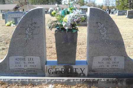 GERETY, JOHN T - Union County, Louisiana | JOHN T GERETY - Louisiana Gravestone Photos