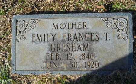 GRESHAM, EMILY FRANCES T - Union County, Louisiana | EMILY FRANCES T GRESHAM - Louisiana Gravestone Photos