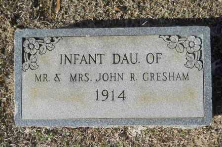 GRESHAM, INFANT DAUGHTER - Union County, Louisiana | INFANT DAUGHTER GRESHAM - Louisiana Gravestone Photos