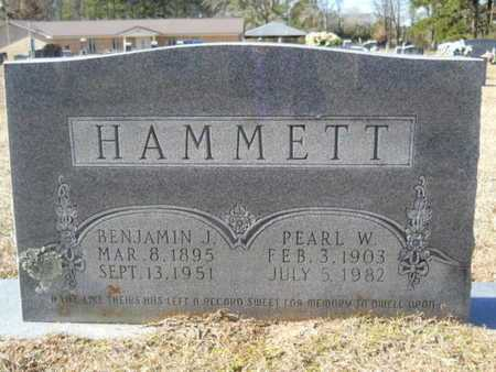 HAMMETT, PEARL W - Union County, Louisiana | PEARL W HAMMETT - Louisiana Gravestone Photos