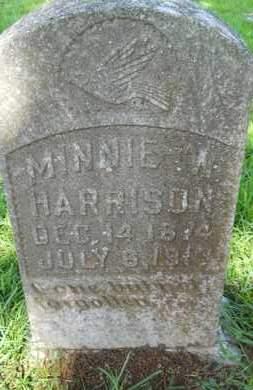 HARRISON, MINNIE W - Union County, Louisiana   MINNIE W HARRISON - Louisiana Gravestone Photos