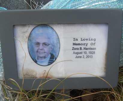 HARRISON, ZORA B (CLOSE UP) - Union County, Louisiana | ZORA B (CLOSE UP) HARRISON - Louisiana Gravestone Photos