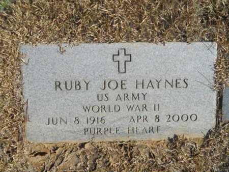 HAYNES, RUBY JOE (VETERAN WWII) - Union County, Louisiana | RUBY JOE (VETERAN WWII) HAYNES - Louisiana Gravestone Photos