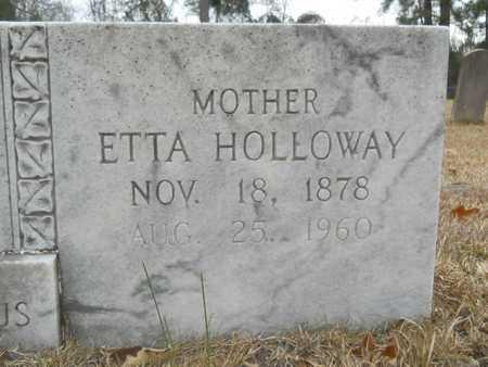 JONES HOLLOWAY, ETTA (CLOSE UP) - Union County, Louisiana | ETTA (CLOSE UP) JONES HOLLOWAY - Louisiana Gravestone Photos