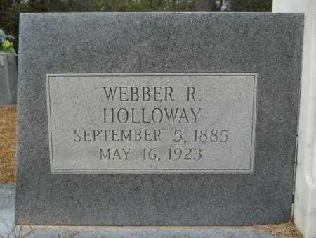 HOLLOWAY, WEBBER R (CLOSE UP) - Union County, Louisiana | WEBBER R (CLOSE UP) HOLLOWAY - Louisiana Gravestone Photos