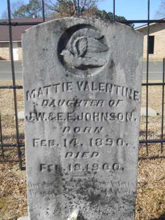JOHNSON, MATTIE VALENTINE - Union County, Louisiana   MATTIE VALENTINE JOHNSON - Louisiana Gravestone Photos
