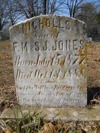 JONES, NICHOLLS - Union County, Louisiana | NICHOLLS JONES - Louisiana Gravestone Photos