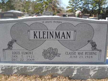 KLEINMAN, LOUIS ULMONT - Union County, Louisiana   LOUIS ULMONT KLEINMAN - Louisiana Gravestone Photos