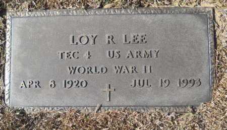 LEE, LOY R (VETERAN WWII) - Union County, Louisiana   LOY R (VETERAN WWII) LEE - Louisiana Gravestone Photos