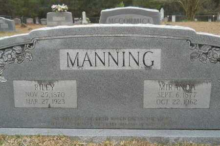 MANNING, RILEY - Union County, Louisiana | RILEY MANNING - Louisiana Gravestone Photos
