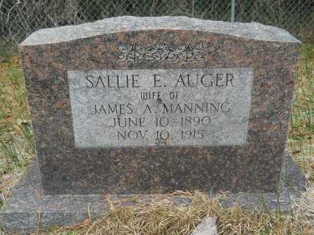 AUGER MANNING, SALLIE E - Union County, Louisiana | SALLIE E AUGER MANNING - Louisiana Gravestone Photos