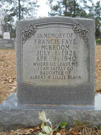 BLACK MCBROOM, FRANCIS FAYE - Union County, Louisiana | FRANCIS FAYE BLACK MCBROOM - Louisiana Gravestone Photos
