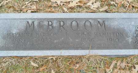 MCBROOM, JOHN HAMILTON - Union County, Louisiana | JOHN HAMILTON MCBROOM - Louisiana Gravestone Photos