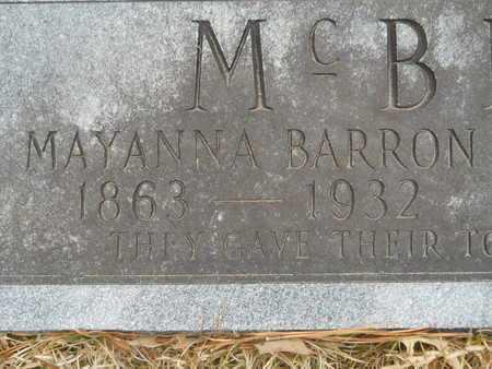 MCBROOM, MAYANNA (CLOSE UP) - Union County, Louisiana | MAYANNA (CLOSE UP) MCBROOM - Louisiana Gravestone Photos