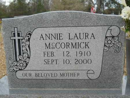 MCCORMICK, ANNIE LAURA (CLOSE UP) - Union County, Louisiana | ANNIE LAURA (CLOSE UP) MCCORMICK - Louisiana Gravestone Photos