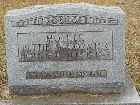 MCCORMICK, BETTIE - Union County, Louisiana | BETTIE MCCORMICK - Louisiana Gravestone Photos