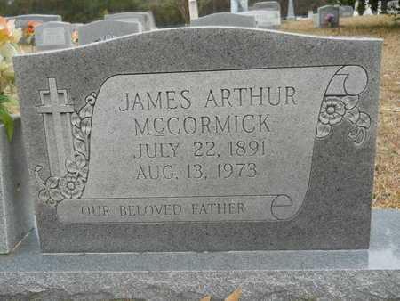 MCCORMICK, JAMES ARTHUR (CLOSE UP) - Union County, Louisiana | JAMES ARTHUR (CLOSE UP) MCCORMICK - Louisiana Gravestone Photos