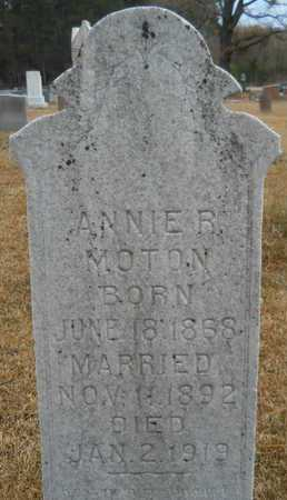 MOTON, ANNIE B - Union County, Louisiana | ANNIE B MOTON - Louisiana Gravestone Photos