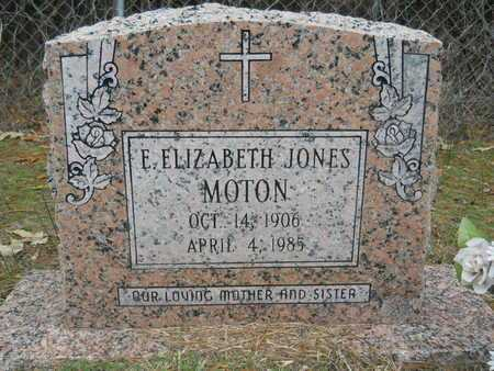 MOTON, E ELIZABETH - Union County, Louisiana | E ELIZABETH MOTON - Louisiana Gravestone Photos