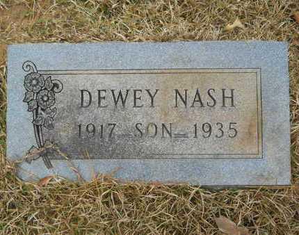 NASH, DEWEY - Union County, Louisiana   DEWEY NASH - Louisiana Gravestone Photos
