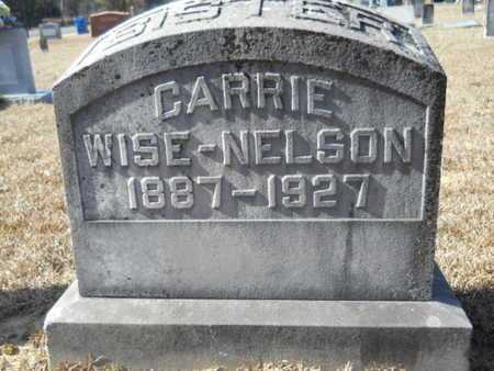 WISE NELSON, CARRIE - Union County, Louisiana | CARRIE WISE NELSON - Louisiana Gravestone Photos