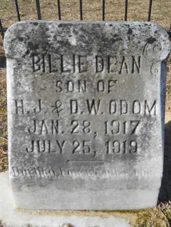 ODOM, BILLIE DEAN - Union County, Louisiana | BILLIE DEAN ODOM - Louisiana Gravestone Photos