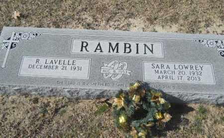 LOWREY RAMBIN, SARA - Union County, Louisiana   SARA LOWREY RAMBIN - Louisiana Gravestone Photos