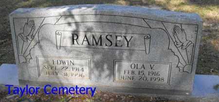 RAMSEY, EDWIN - Union County, Louisiana | EDWIN RAMSEY - Louisiana Gravestone Photos