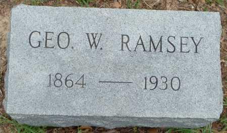 RAMSEY, GEORGE W - Union County, Louisiana | GEORGE W RAMSEY - Louisiana Gravestone Photos