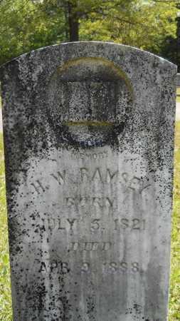 RAMSEY, H W - Union County, Louisiana | H W RAMSEY - Louisiana Gravestone Photos