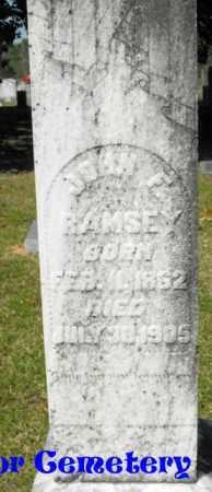 RAMSEY, JOHN F - Union County, Louisiana | JOHN F RAMSEY - Louisiana Gravestone Photos