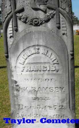 FRANCIS RAMSEY, MOLLIE MARY - Union County, Louisiana   MOLLIE MARY FRANCIS RAMSEY - Louisiana Gravestone Photos