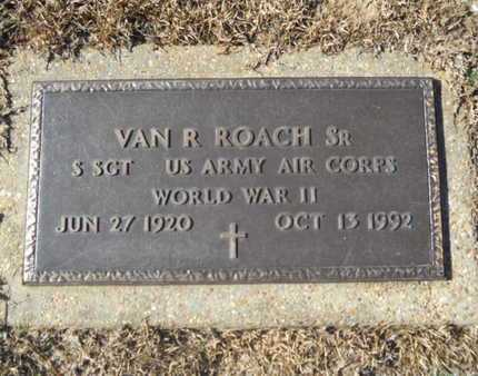 ROACH, VAN R, SR (VETERAN WWII) - Union County, Louisiana   VAN R, SR (VETERAN WWII) ROACH - Louisiana Gravestone Photos