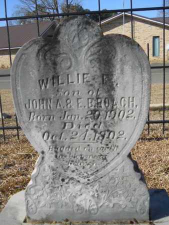 ROACH, WILLIE F - Union County, Louisiana | WILLIE F ROACH - Louisiana Gravestone Photos
