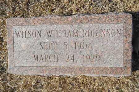 ROBINSON, WILSON WILLIAM - Union County, Louisiana | WILSON WILLIAM ROBINSON - Louisiana Gravestone Photos