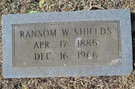SHIELDS, RANSOM W - Union County, Louisiana | RANSOM W SHIELDS - Louisiana Gravestone Photos