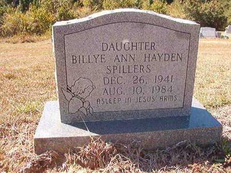 HAYDEN SPILLERS, BILLYE ANN - Union County, Louisiana | BILLYE ANN HAYDEN SPILLERS - Louisiana Gravestone Photos