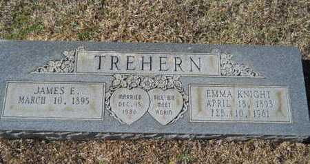 KNIGHT TREHERN, EMMA - Union County, Louisiana   EMMA KNIGHT TREHERN - Louisiana Gravestone Photos