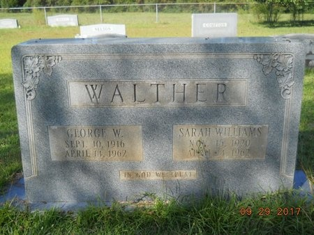 WALTHER, SARAH - Union County, Louisiana | SARAH WALTHER - Louisiana Gravestone Photos