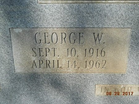 WALTHER, GEORGE W (CLOSE UP) - Union County, Louisiana | GEORGE W (CLOSE UP) WALTHER - Louisiana Gravestone Photos