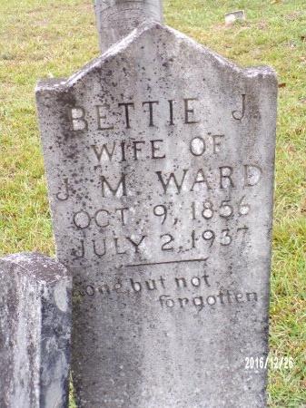 "WARD, ELIZABETH JANE ""BETTIE"" - Union County, Louisiana   ELIZABETH JANE ""BETTIE"" WARD - Louisiana Gravestone Photos"