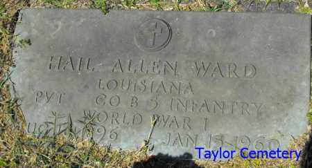 WARD, HAIL ALLEN  (VETERAN WWI) - Union County, Louisiana | HAIL ALLEN  (VETERAN WWI) WARD - Louisiana Gravestone Photos